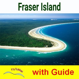 Fraser Island NP -GPS and outdoor map with guide