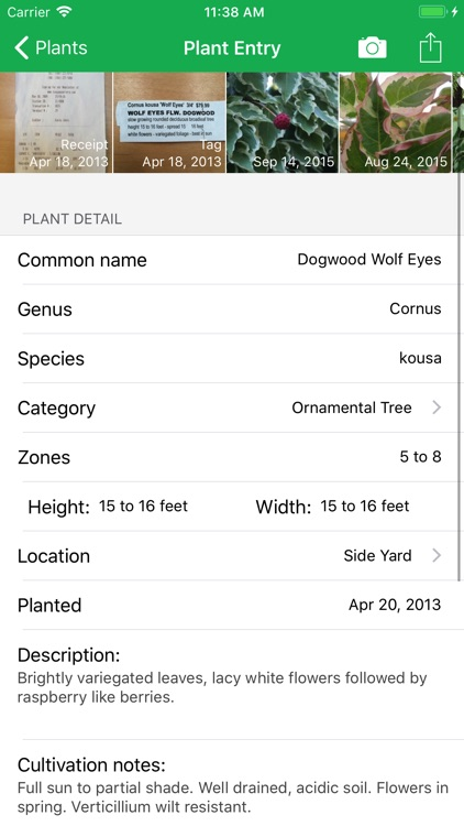 MyPlant Notebook screenshot-1