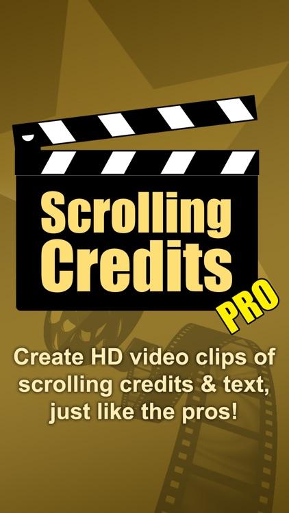Scrolling Credits Pro screenshot-0