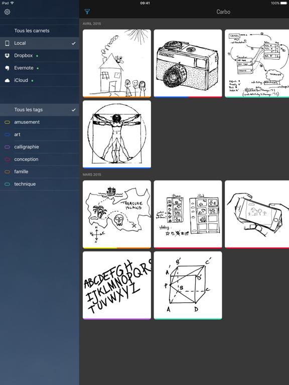 Screenshot #5 pour Carbo - Notes et dessins