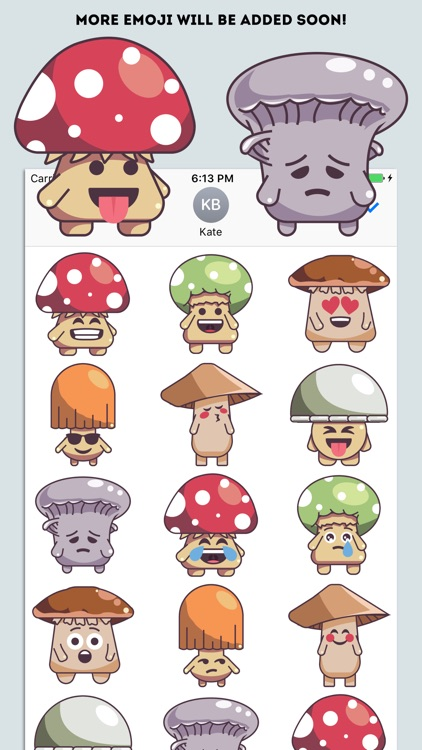 Mushroom Cute Emoji Stickers