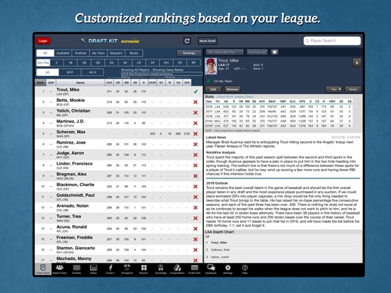 Fantasy Baseball Draft Kit '19 screenshot 6