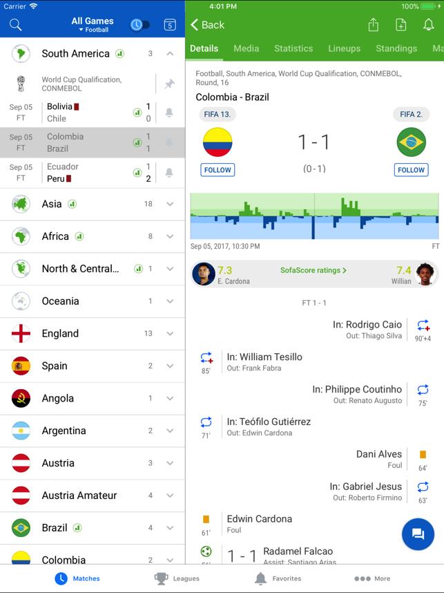 SofaScore Risultati in tempo reale: Partite LIVE si aggiorna alla vers 6.5.04