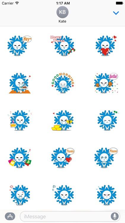 Cute Snowflake Emoji Sticker