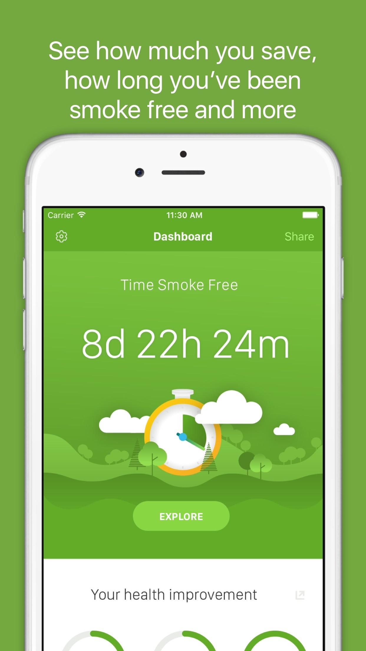 Smoke Free - Quit Smoking Now Screenshot