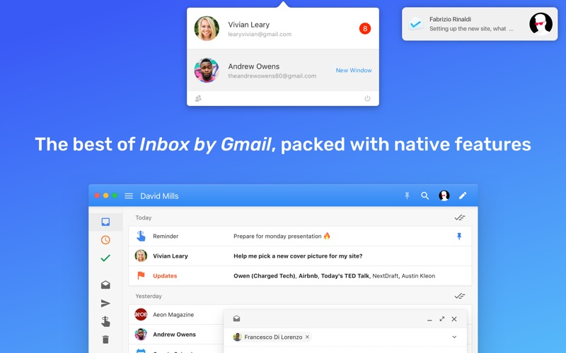 "Boxy: email client for ""Inbox by Gmail"" Screenshot"
