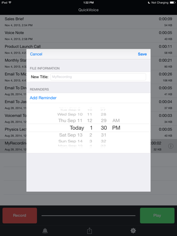 Скриншот из QuickVoice® Recorder