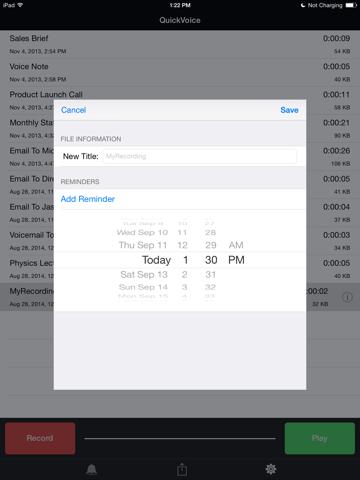 Screenshot of QuickVoice® Recorder