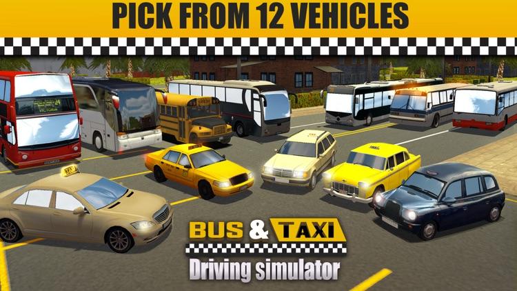 Bus & Taxi Driving Simulator screenshot-4