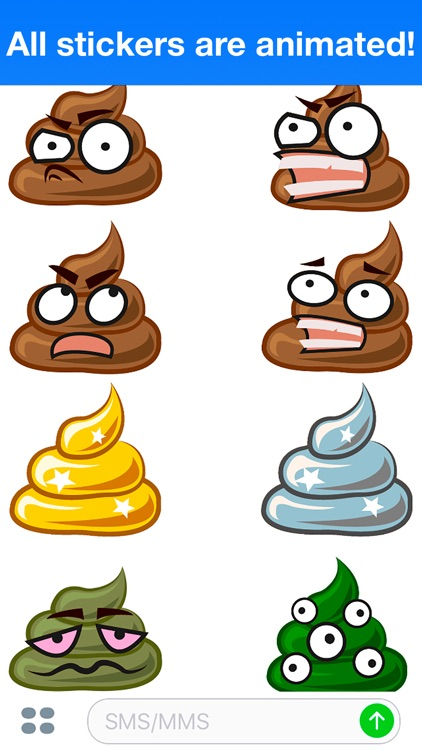 Poo Animated - Cute stickers screenshot-4