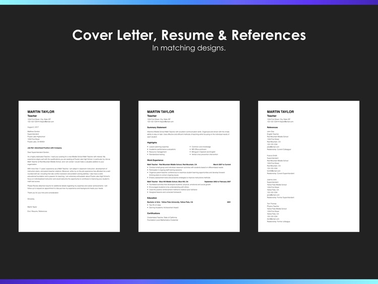 Resumes by Nobody - Resume Builder, 25 Templates screenshot-4