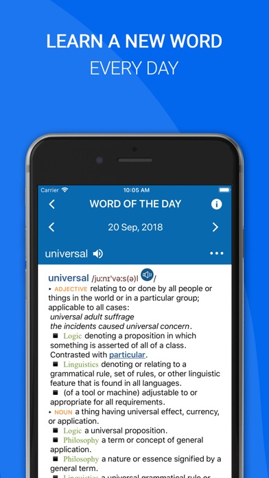 Screenshot for Oxford English Dictionary 2018 in Estonia App Store