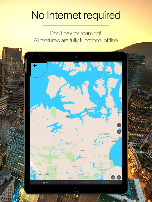 Canada Offline Navigator on the App