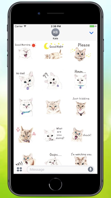 Screenshot for Text Cats Stickers in Argentina App Store