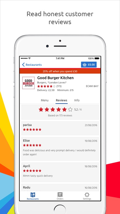 Just Eat: food delivery screenshot-3