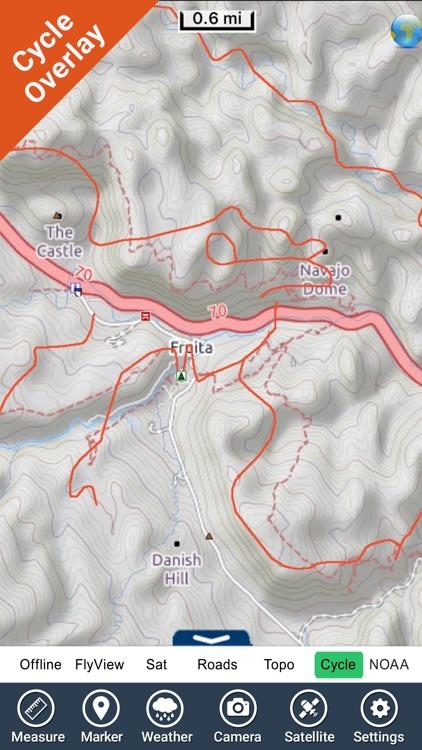 Capitol Reef National Park - GPS Map Navigator