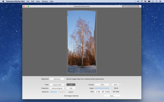 Panorama Stitcher Mini trên Mac App Store