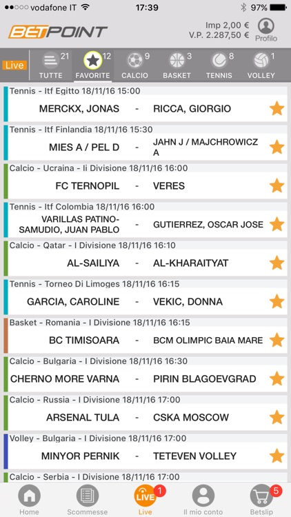 Scommesse screenshot-1