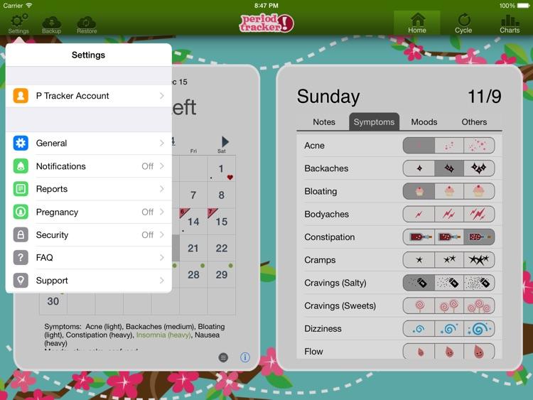 Period Tracker HD screenshot-3