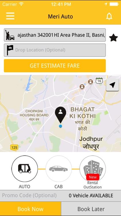 Online Booking cab - Meri auto screenshot-4