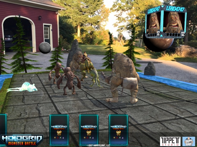 HoloGrid: Monster Battle AR Screenshot