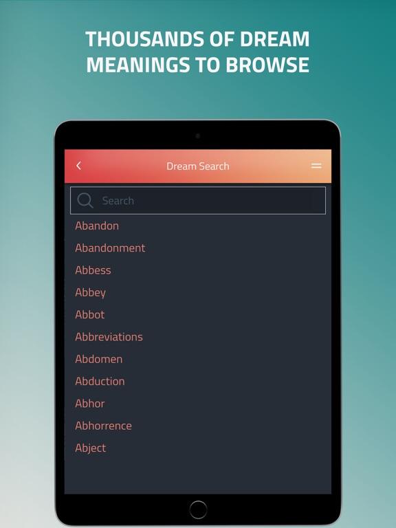 iDream - Dream Dictionary iPad