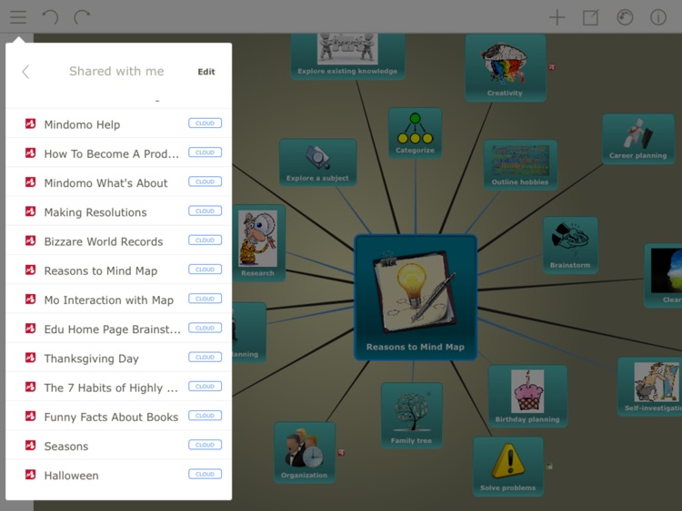 Mindomo (mind mapping) screenshot-0