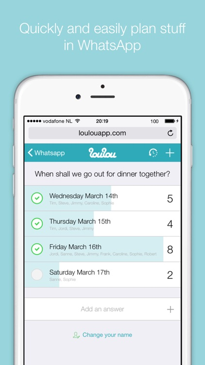 LouLou - Easy date planner screenshot-0