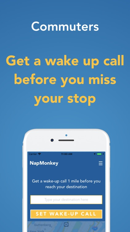 NapMonkey - for busy commuters