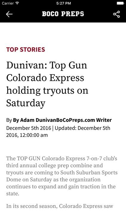 Boulder County Preps News