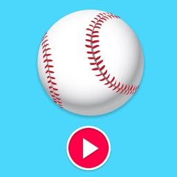 Animated Baseball Stickers