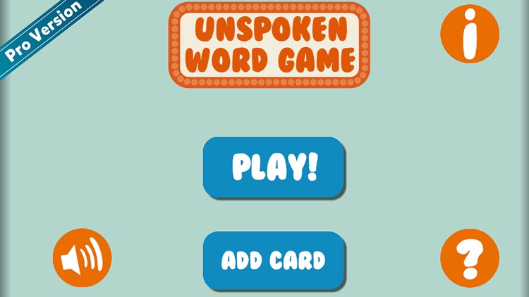 Unspoken Word Game