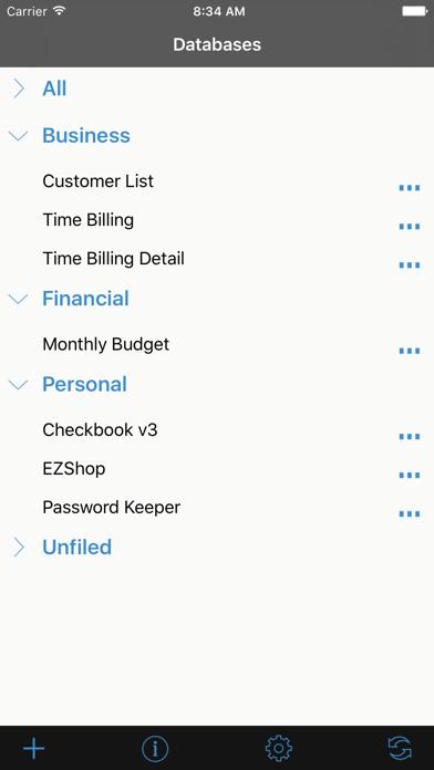Handbase Database Manager review screenshots