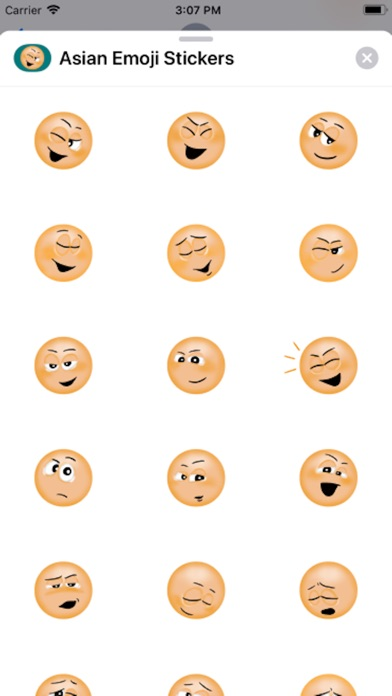 Screenshot of Asian Emoji Stickers App