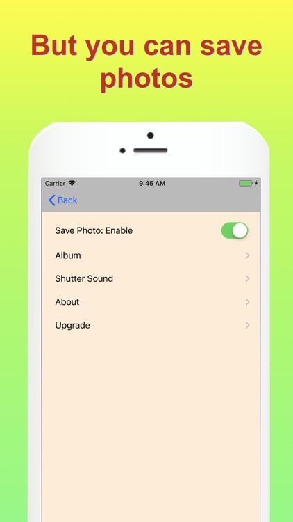 No save photo camera app screenshot-3