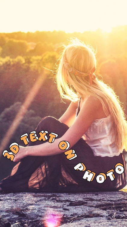 3D Text On Photo - Font Editor