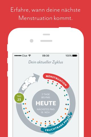 Clue - Health & Period Tracker screenshot 1