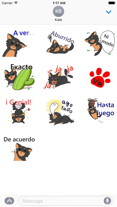 Cute Chihuahua Spanish Sticker screenshot 2
