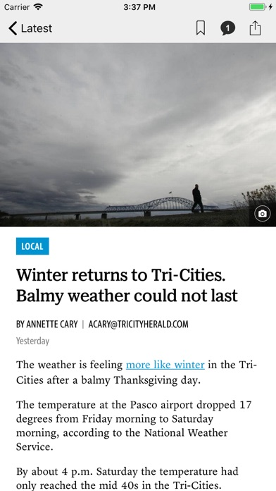 Tri City Herald News review screenshots