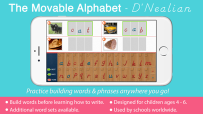 Movable Alphabet - D'Nealian screenshot 1