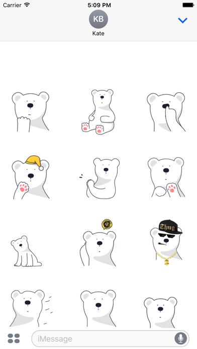 点击获取Polar Bear Animated Stickers