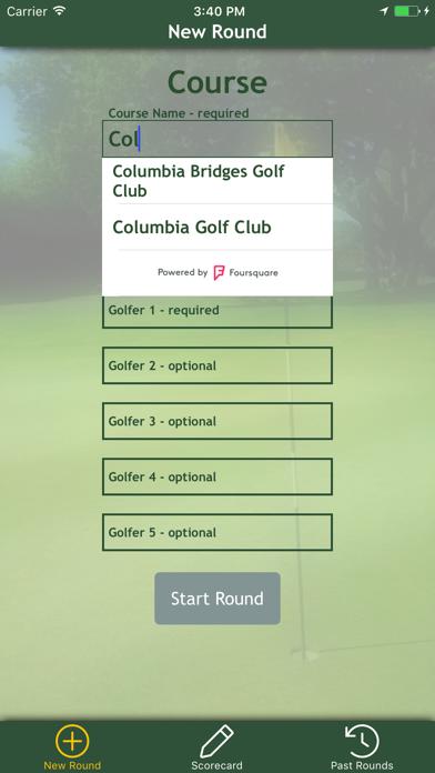 Par Card - The Golf Scorecard
