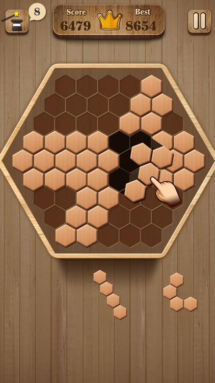 Wooden Hexagon Fit: Hexa Block screenshot-4