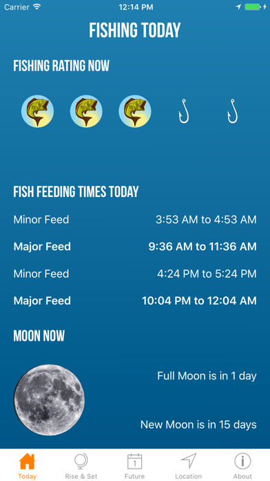 Solunar Best Fishing Times Screenshot