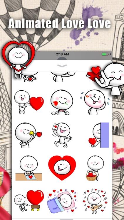 Animated Love Love Stickers screenshot-3