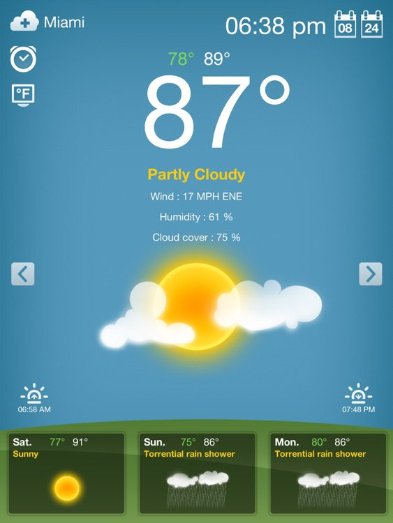 Weather for iPad Free screenshot-1