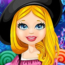 Witch Alice in Magic Forest