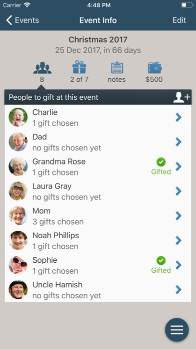 Gifted - Gift List Manager screenshot