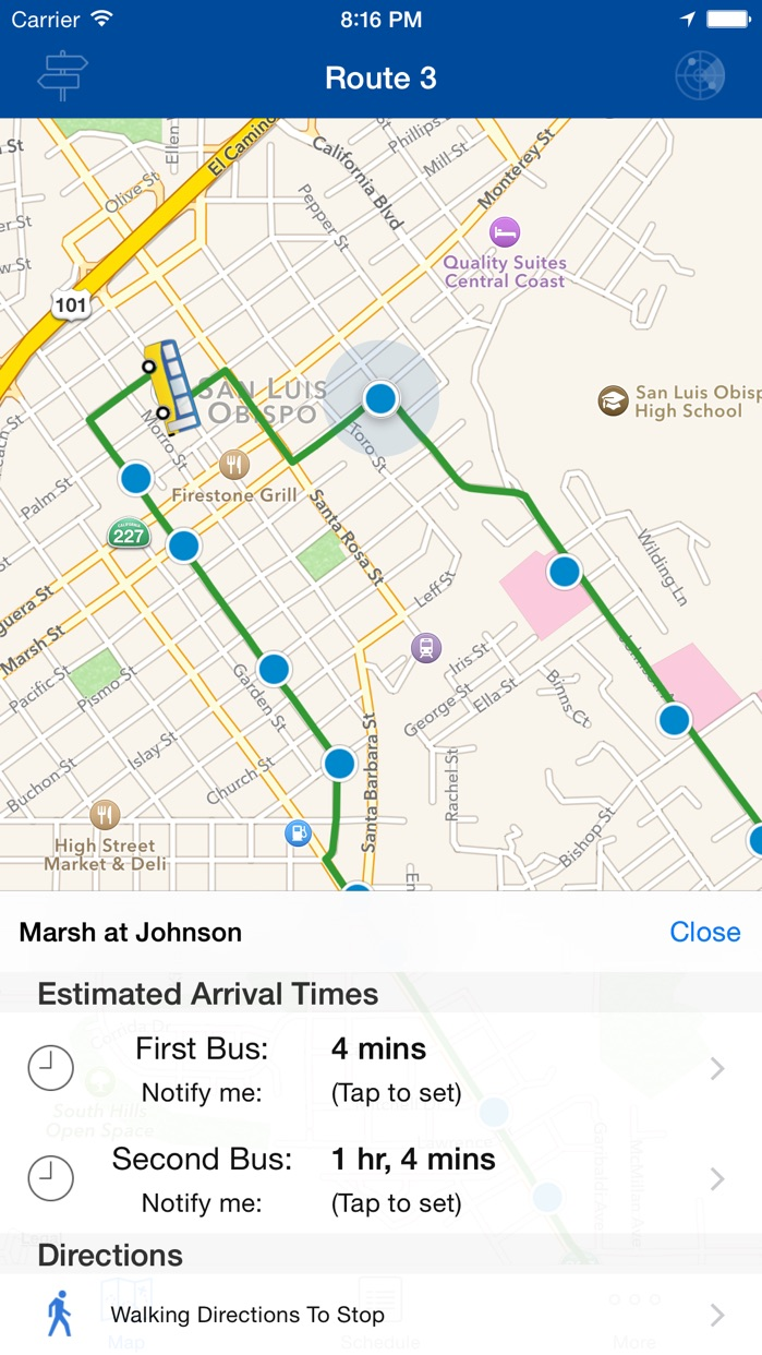 SLO Transit Screenshot