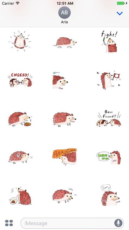 Adorable Hedgehog - HedgMoji Emoji Sticker